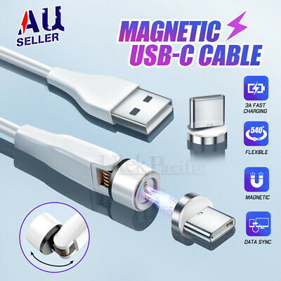 AU7.45 • Buy USB Type-C USB-C Magnetic Charging Cable Charger For Samsung Google HUAWEI OPPO