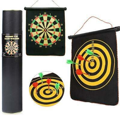12''Dart Board Double Sided Dartboard Family Kids Childrens Game With Darts UK • 7.79£
