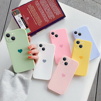 AU4.50 • Buy Cute Lovely Heart Soft Silicone Case Cover For IPhone 11 Pro Max 12 Xs XR X 7 8