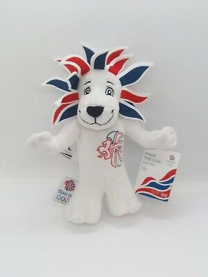 London Olympics 2012 Team GB Toy Mascot Pride The Lion Original Tag Memorabilia • 15£