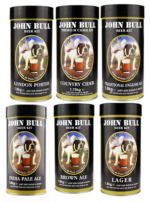 John Bull BEER KIT 1.8kg Just Add Sugar & Water Makes 40 Pints Home Brew P&P UK • 22.50£