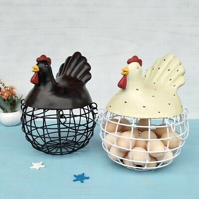 Iron Basket Egg Storage Basket Snack Fruit Basket Creative Collection Hen  B1K4 • 29.63£