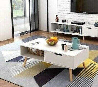 AU89.10 • Buy 130 - 178 Cm TV Stand Entertainment Unit Cabinet And Coffee Table In Two Colors
