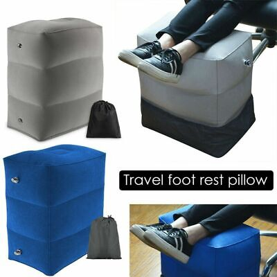 AU20.99 • Buy Inflatable Foot Rest Travel Air Pillow Cushion Office House Footstool 3 Layer AU