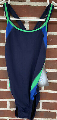 $29 • Buy New Dolfin One Piece Swimsuit NWT Womens Size 34 Spell Out Chlorine Resistant