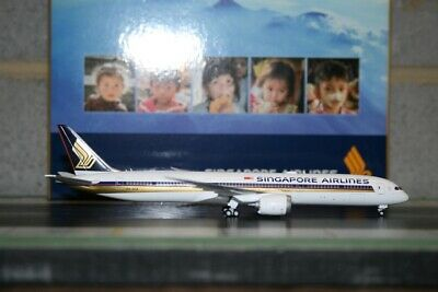 AU128 • Buy JC Wings 1:400 Singapore Airlines Boeing 787-10 9V-SCA Die-Cast Model Plane