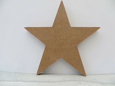 Free Standing Star Large Wooden MDF Shape 18mm Thick  Approx 19cm High • 3.25£