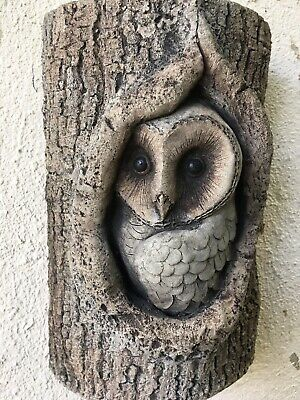 £22 • Buy Owl - Wall Hanging - Hand Cast Stone Garden Ornament