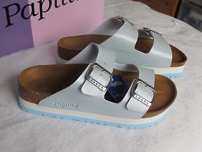 NEW Papillio Arizona Ladies Baby Blue Platform Mules Sandals UK Size 7.5 EU 41 • 64.99£