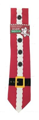 $12 • Buy Holiday Traditions Mens Christmas Red Santa Suit Neck Tie