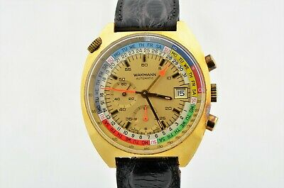 $ CDN659.96 • Buy Vintage Wakmann Automatic Regatta Chronograph Calendar Original Box Watch