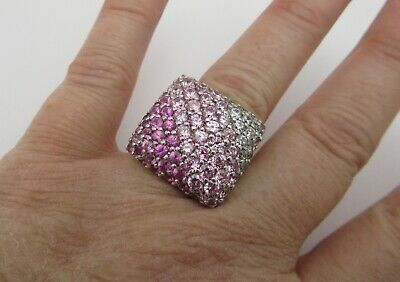 $55.99 • Buy Charles Winston Bella Luce 925 Sterling Silver Pink Ice CZ Ombré Ring Size 8