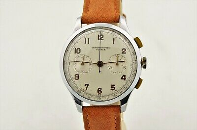 $ CDN594.64 • Buy Vintage Chronometre Suisse Swiss Chronograph Manual Wind Stainless 37mm Watch