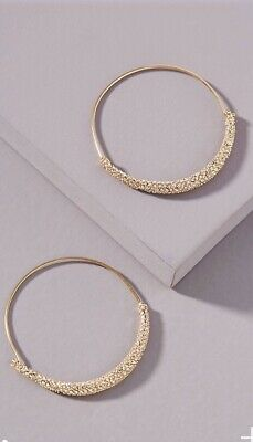 $ CDN31.11 • Buy ANTHROPOLOGIE LESLIE HOOP EARRINGS NWT GOLD New Arrival