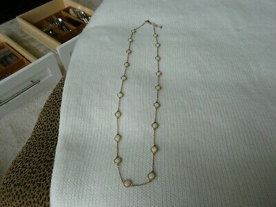 $ CDN5.77 • Buy Lia Sophia Long Necklace Gold Chain With Cream Dots Retired Unique