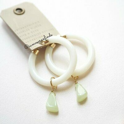 $ CDN61.67 • Buy Anthropologie Felicity Drop Earrings In Mint Resin NWT