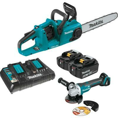 Makita Chain Saw And Angle Grinder 18-Volt Battery Charger Cordless Brushless • 342.16£