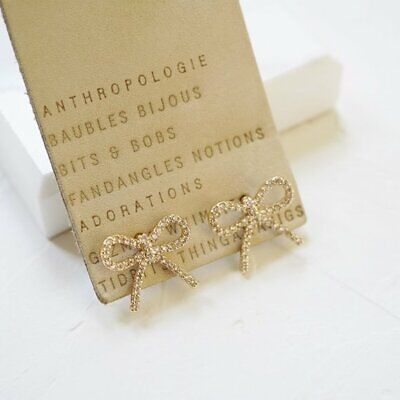 $ CDN49.03 • Buy Anthropologie Pave Bow Studs Earrings NWT