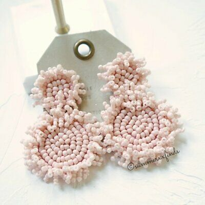 $ CDN44.96 • Buy Anthropologie BaubleBar Rianne Bead Drop Earrings Light Pink Statement Earrings