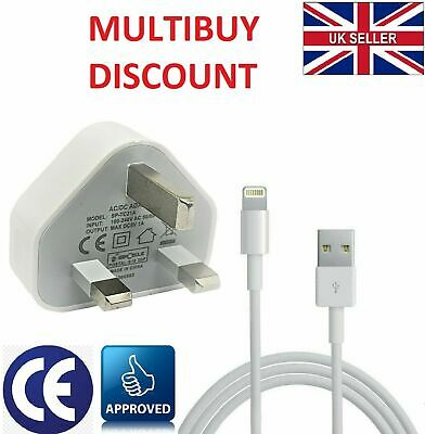 Genuine CE Plug & Cable Charger Lead For Apple IPhone 11 Pro X XS 8 7 6 6S Plus • 6.99£
