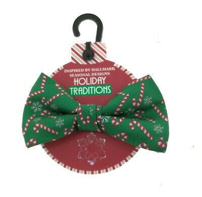 $12 • Buy Holiday Traditions Mens Christmas Green Candy Cane Bow Tie