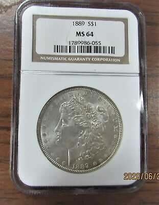 $46.51 • Buy 1889 Morgan Silver Dollar Ngc Certified Ms 64 Uncirculated