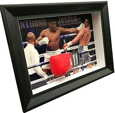 AU895 • Buy Anthony Joshua Signed Boxing Glove Framed Photo Proof