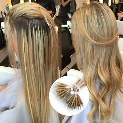 14 -26  1g/Stand 100g  Nano Ring Double Drawn Russian Remy Human Hair Extensions • 56.90£