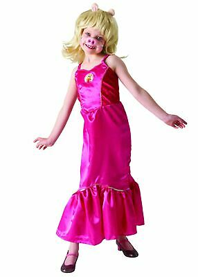 Girls Deluxe Miss Piggy Costume The Muppets Book Day Fancy Dress Outfit • 14.99£