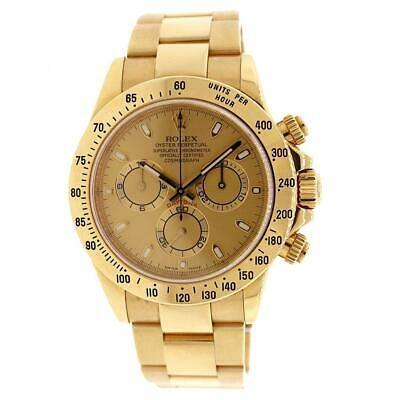 $ CDN41984.16 • Buy Rolex Cosmograph Daytona 40MM Yellow Gold Champagne Dial Watch Box Papers 116528