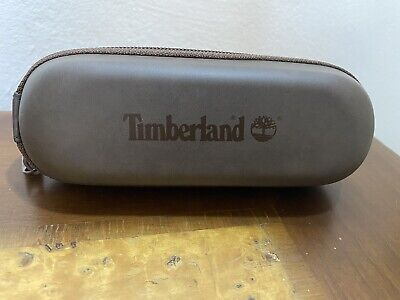 Genuine Timberland Sunglasses Glasses Protective Zip Case - Brown • 10£