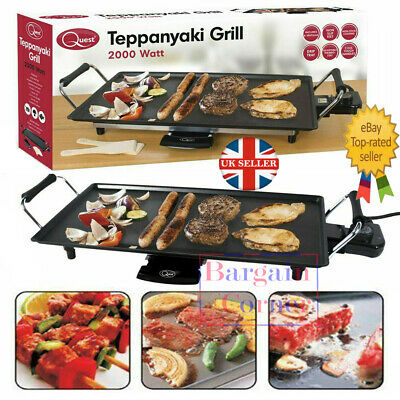 £30.97 • Buy Quest Large NonStick Teppanyaki Grill Table Electric Hot Plate BBQ Griddle 2000w