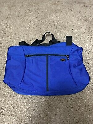 Victorinox Swiss Army Black Canvas Travel Shoulder Travel Tote Bag Blue • 14.62£