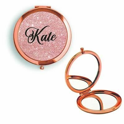 £4.99 • Buy Compact Mirror Sparkle Name Colours Rose Gold / Gold