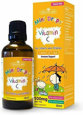 £5.60 • Buy Natures Aid VITAMIN C 50ml Drops For 3+ Months Infants To 5 Years Children