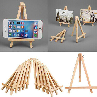 Mini Wooden Easel Table Wedding Picture Name Card Holder Display Small Stand TH • 3.58£