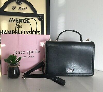 $ CDN129 • Buy Kate Spade NY Bag Maisie Patterson Drive Black Cement Leather Bag NWT
