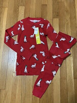 $30 • Buy NEW Hanna Andersson Boy Girl Long Johns PJ Pajamas 140 US 10