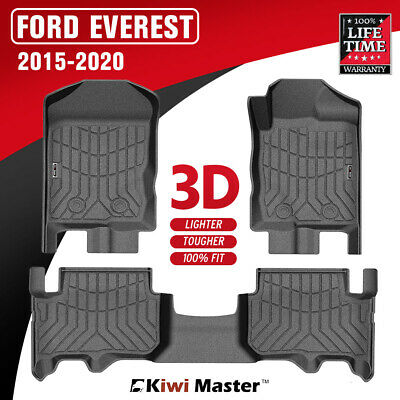 AU129.95 • Buy KIWI MASTER 3D TPE Floor Mats Fit Ford Everest 2015-2020