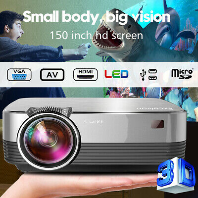 AU109.99 • Buy Mini LED Portable Projector 1080P HD HDMI USB VGA Home Theater Outdoor 5000Lumen