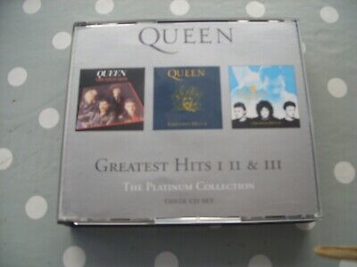 Queen Greatest Hits I II III The PLATINUM COLLECTION 3 CD Set • 9.99£