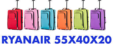 £10.99 • Buy 55x40x20 Cabin Bag Ryanair Easyjet Hand Luggage Approved Suitcase Carry On Small