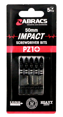 Impact Screwdriver Bits X 5 Pz1 Pozi 1 Head 50mm Screw Driver Bit Pack Of 5 • 4.50£