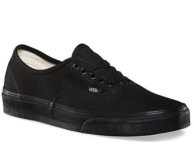 AU79.99 • Buy VANS Authentic Mens Canvas Casual Shoes Sneaker Black/Black --Size Up To 16US
