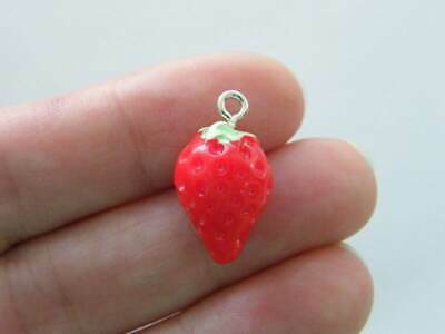 £2.30 • Buy 4 Strawberry Charms Resin FD341