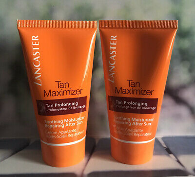Lancaster Tan Maximizer Soothing Repairing After Sun 2 X 50ml FAST POST • 14.99£