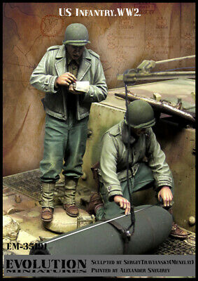 1/35 Scale Resin Figure Kit WWII US Infantry #4 • 26.99£
