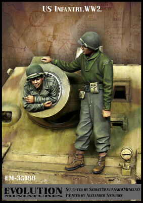 1/35 Scale Resin Figure Kit WWII US Infantry #1 • 26.99£