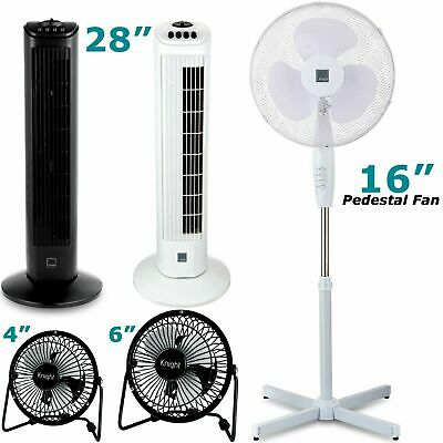 Fans Tower Stand Desk USB Oscillating Various Size Electric Fans • 7.99£