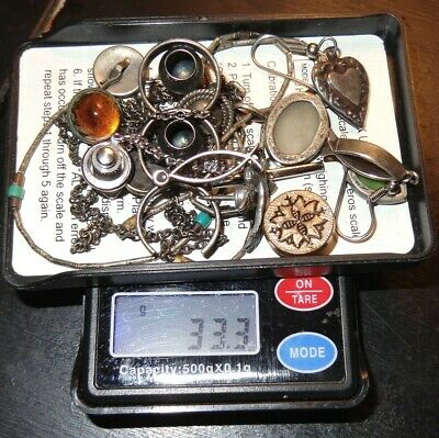 $ CDN25.17 • Buy ANTIQUE Vintage JEWELRY LOT 11pc STERLING SILVER Jewelry SCRAP WEAR LOT 33.3gr
